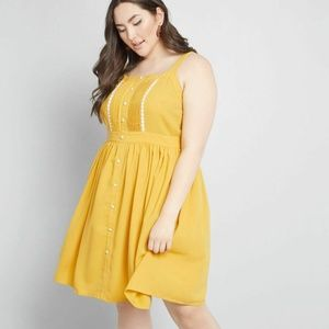 Modcloth About Your Outfit A-Line Dress Mustard
